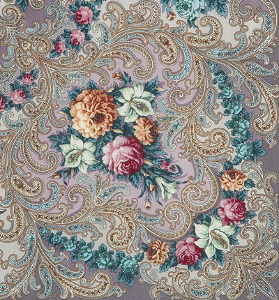 """Russian shawl """"The mystery of the heart 1437-1"""""""