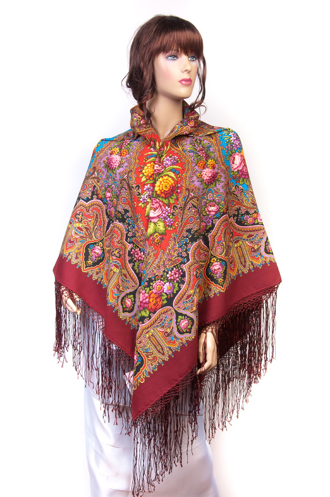 "Russian shawl ""Almonds 1369-6"""