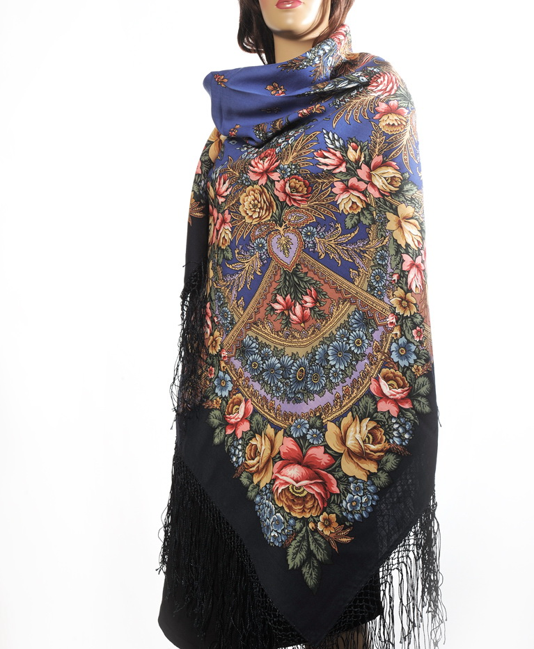 "Russian shawl ""July morning 1028-14"""