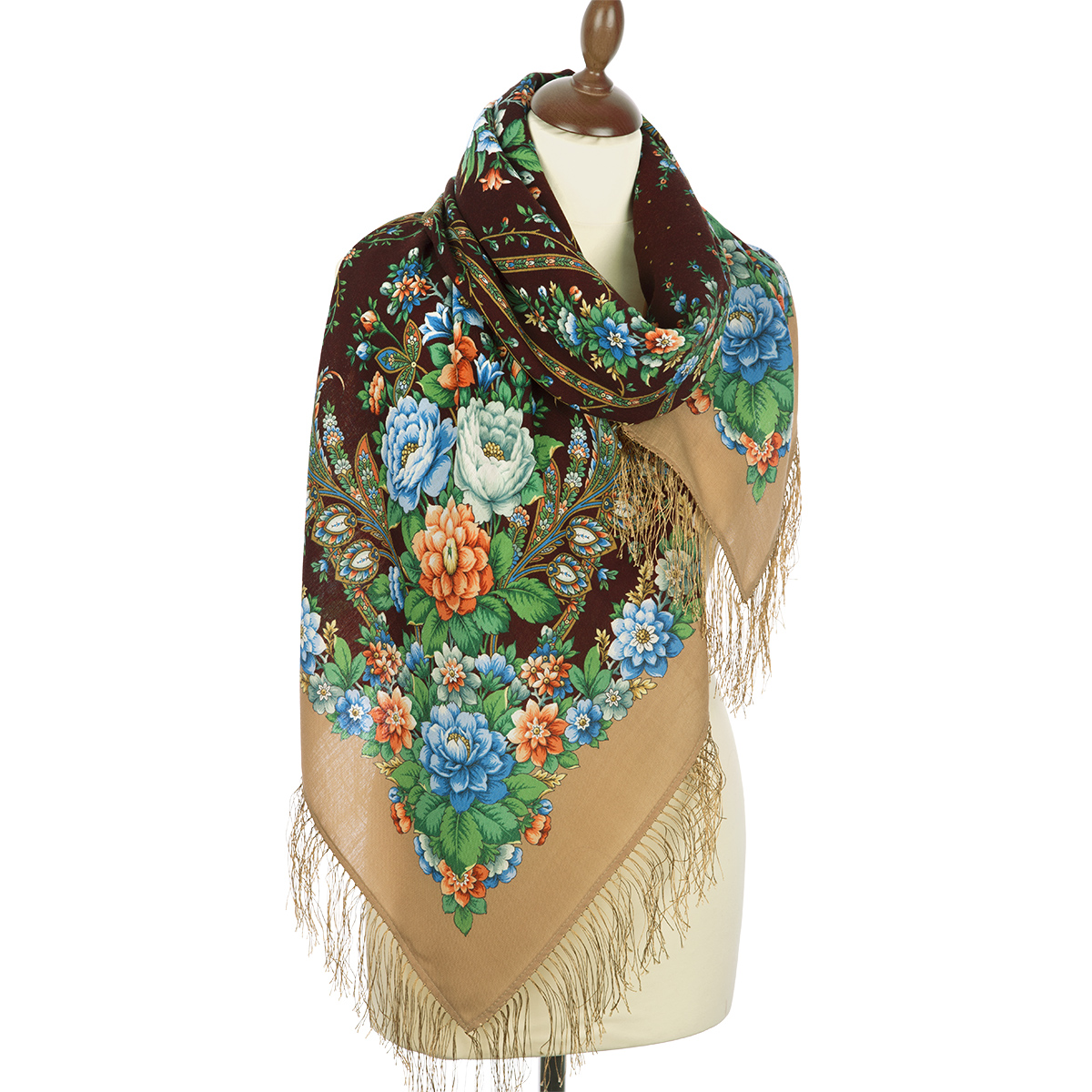 "Russian shawl ""Star rain 1640-16"""