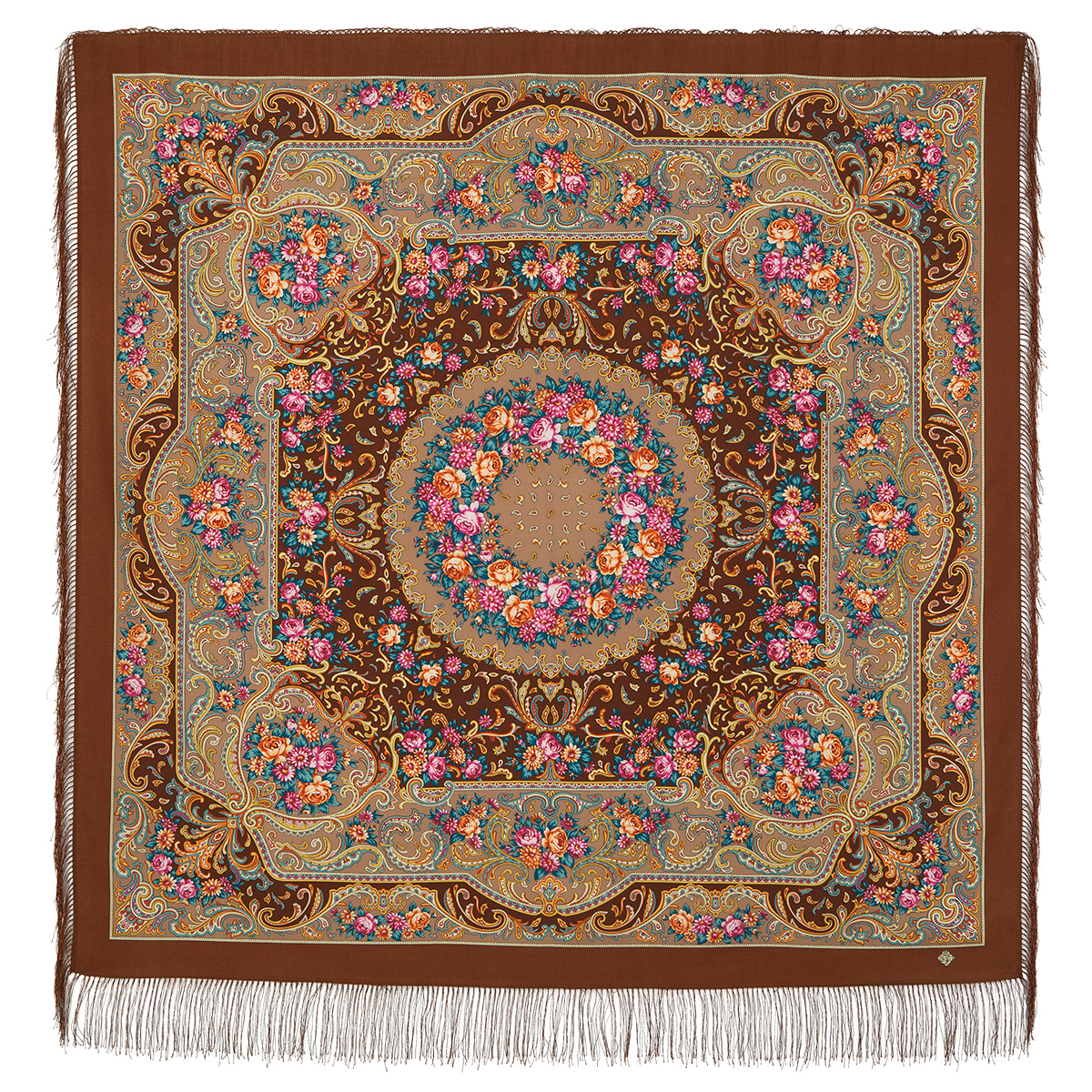 "Russian shawl ""Autumn romance 1677-16"""