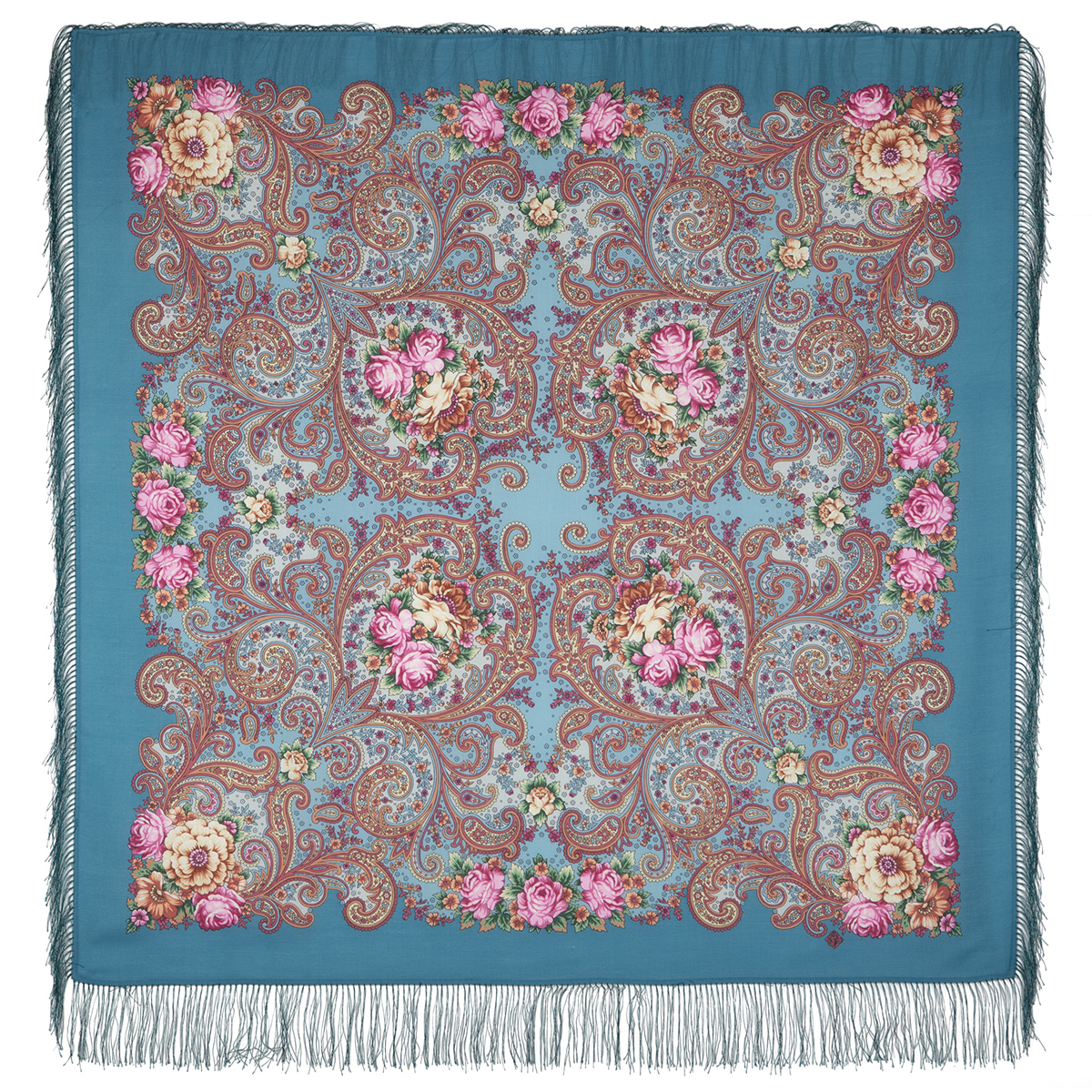 "Russian shawl ""Dreams of happiness 1665-12"""