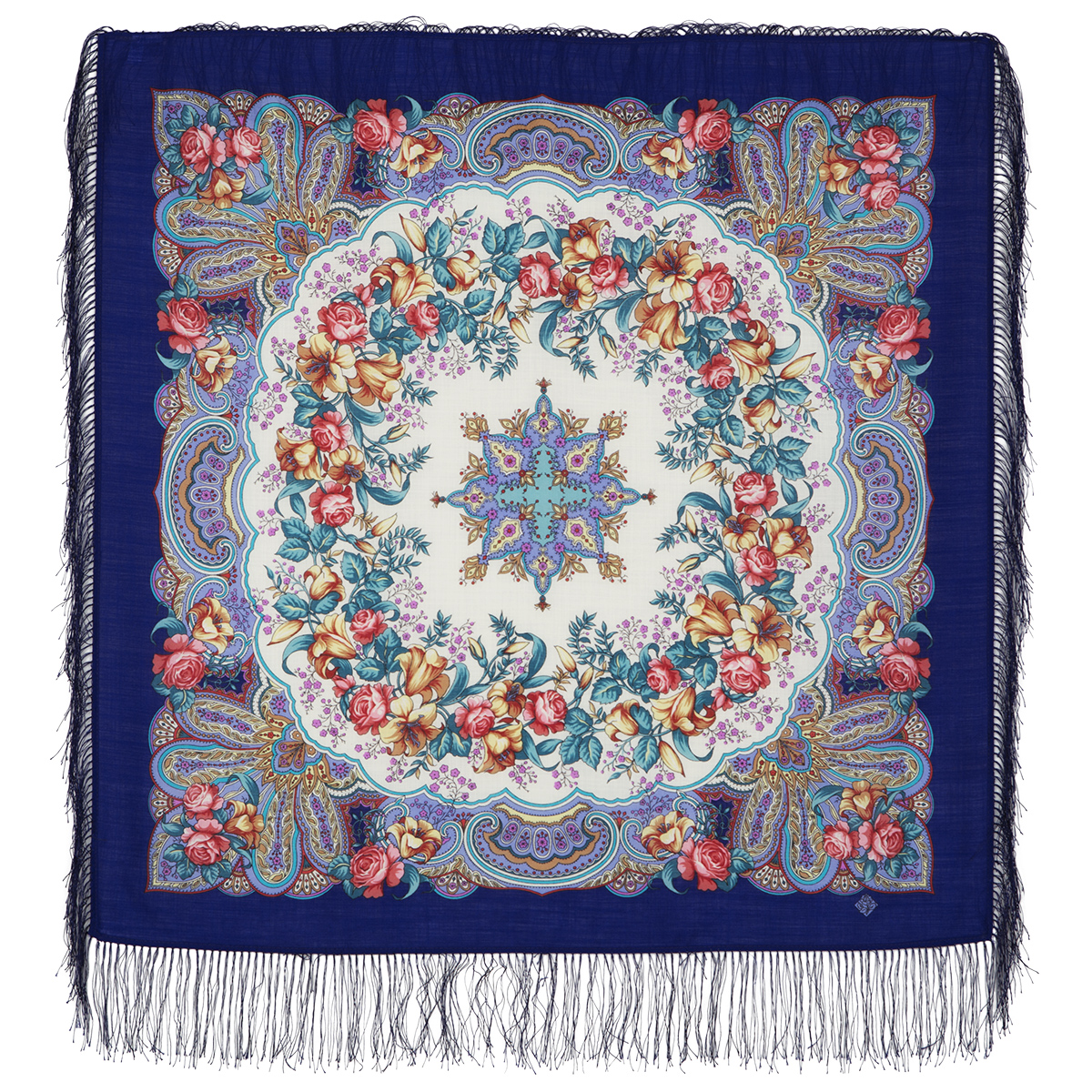 "Russian shawl ""Russian dance 1684-13"""
