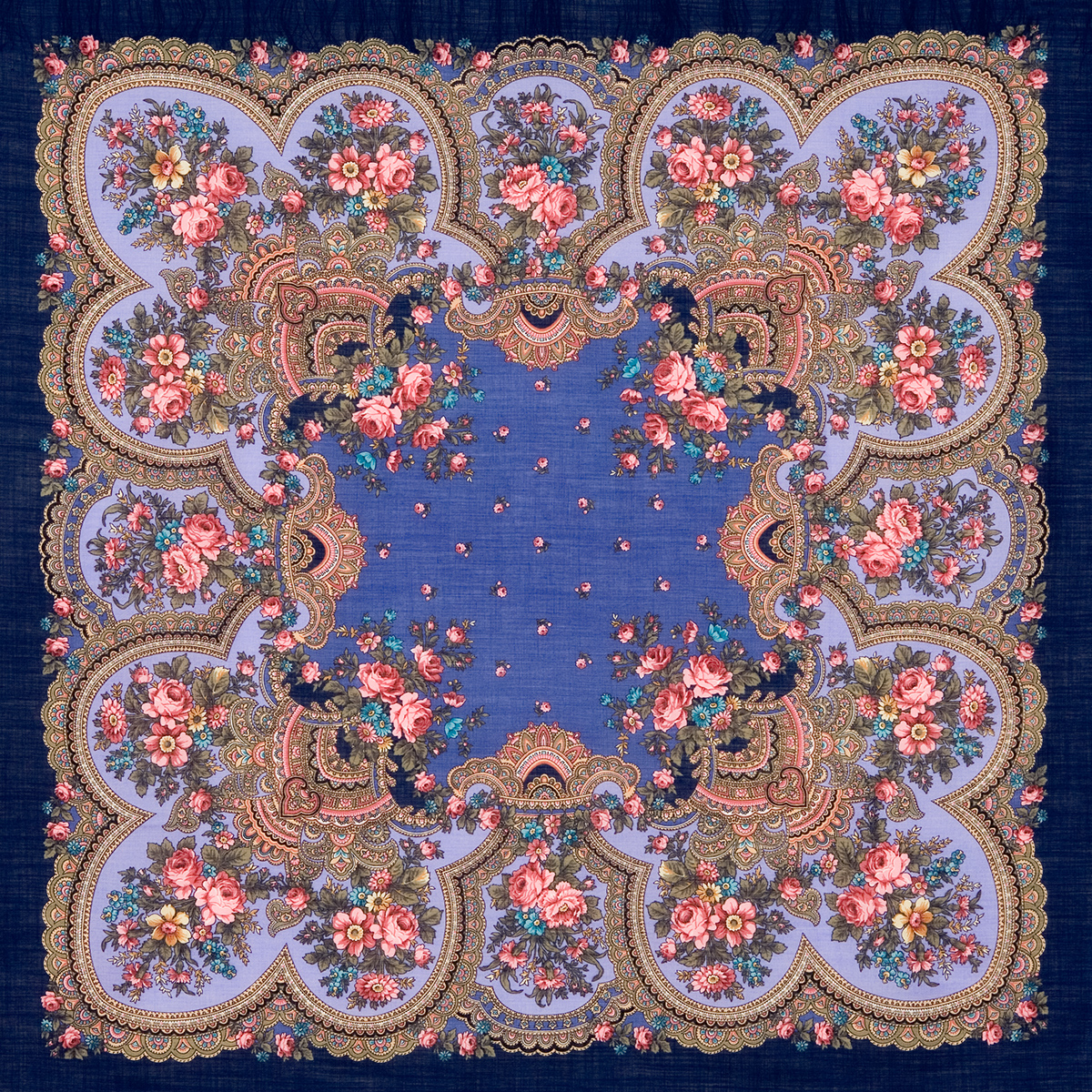 "Russian shawl ""Heart-to-heart conversation 1113-14"""