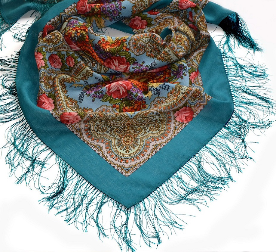 "Russian shawl ""Autumn lace 1471-11"""