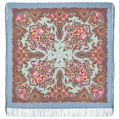 "Russian shawl ""The magic of the senses 1629-13"""